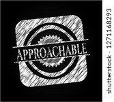 approachable written on a... | Shutterstock .eps vector #1271168293