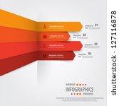minimal infographics. vector | Shutterstock .eps vector #127116878