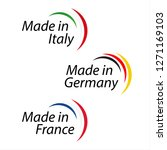 simple logos made in italy ...   Shutterstock . vector #1271169103