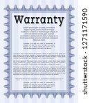 blue formal warranty... | Shutterstock .eps vector #1271171590