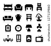 furniture icons | Shutterstock .eps vector #127119860