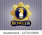 gold emblem or badge with...   Shutterstock .eps vector #1271213650