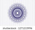 blue rosette or money style... | Shutterstock .eps vector #1271215996