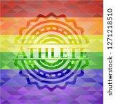 athlete lgbt colors emblem  | Shutterstock .eps vector #1271218510