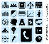 set of 22 business high quality ... | Shutterstock .eps vector #1271223253