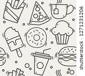 seamless vector pattern with... | Shutterstock .eps vector #1271231206