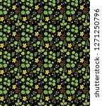 seamless vector ditsy  floral... | Shutterstock .eps vector #1271250796