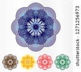 guilloche rosette element for... | Shutterstock .eps vector #1271256973