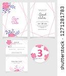 wedding invitation card... | Shutterstock .eps vector #1271281783