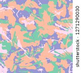 grunge camouflage seamless... | Shutterstock .eps vector #1271290030