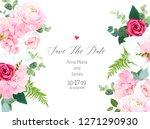 floral vector design horizontal ... | Shutterstock .eps vector #1271290930
