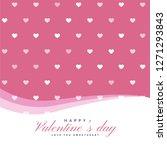 elegant hearts pattern for... | Shutterstock .eps vector #1271293843