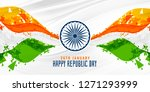 happy republic day indian... | Shutterstock .eps vector #1271293999