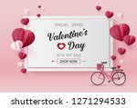 valentines day sale with ... | Shutterstock .eps vector #1271294533