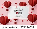 valentines day sale with ... | Shutterstock .eps vector #1271294539