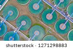 aerial top view water treatment ...   Shutterstock . vector #1271298883