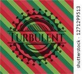 turbulent christmas badge. | Shutterstock .eps vector #1271299513