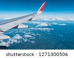 beautiful view from airplane... | Shutterstock . vector #1271300506