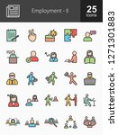 employment filled icons | Shutterstock .eps vector #1271301883