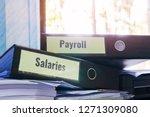 payroll and salaries folders... | Shutterstock . vector #1271309080