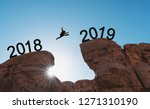 new year concept  silhouette a...   Shutterstock . vector #1271310190