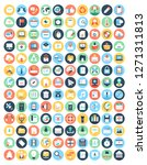 internet related flat icons set | Shutterstock .eps vector #1271311813