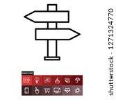 signpost vector icon | Shutterstock .eps vector #1271324770