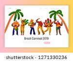 brazil carnival party character ... | Shutterstock .eps vector #1271330236