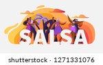 salsa party dancer character... | Shutterstock .eps vector #1271331076