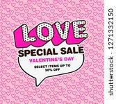 pop art style valentine's day... | Shutterstock .eps vector #1271332150