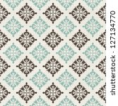 vintage seamless pattern with... | Shutterstock .eps vector #127134770
