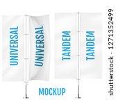 white textile universal banner... | Shutterstock .eps vector #1271352499