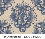 vector damask seamless pattern... | Shutterstock .eps vector #1271354200