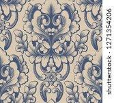 vector damask seamless pattern... | Shutterstock .eps vector #1271354206