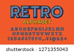 colorful chisel style alphabet... | Shutterstock .eps vector #1271355043
