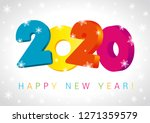 happy new year 2020 numbers 3d... | Shutterstock .eps vector #1271359579