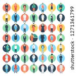 set of colored people and... | Shutterstock .eps vector #1271361799