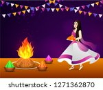 festival celebration background ... | Shutterstock .eps vector #1271362870