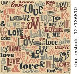 typographic valentines day... | Shutterstock .eps vector #127136810