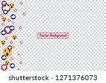 social nets blue thumb up like... | Shutterstock .eps vector #1271376073