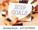 goals 2019 with gold decoration.... | Shutterstock . vector #1271379049