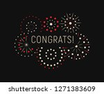 modern greating card with... | Shutterstock .eps vector #1271383609