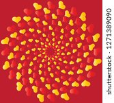 whirl of hearts greeting card... | Shutterstock .eps vector #1271389090