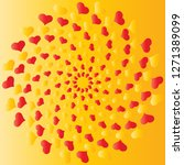 whirl of hearts greeting card... | Shutterstock .eps vector #1271389099
