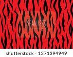 zebra stripes pattern. zebra... | Shutterstock .eps vector #1271394949