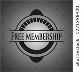 free membership black badge | Shutterstock .eps vector #1271398420