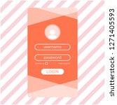 login ui design vector template