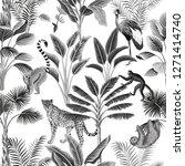tropical vintage botanical... | Shutterstock .eps vector #1271414740