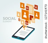 social icon group element | Shutterstock .eps vector #127141973