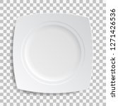 white dish plate isolated on... | Shutterstock .eps vector #1271426536